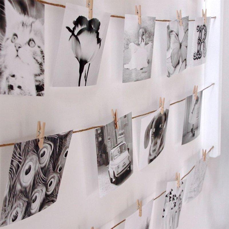 Как оформить открытки на стене