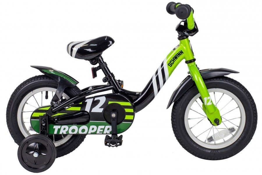 Фото Велосипед SCHWINN TROOPER Black/Lime (53837) - интернет-магазин МегаТерем в Москве